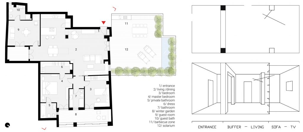 residential, house, interior, drawings